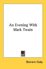 Cover of: An Evening With Mark Twain