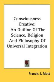 Cover of: Consciousness Creative