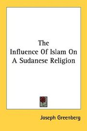Cover of: The Influence Of Islam On A Sudanese Religion