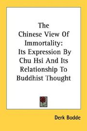Cover of: The Chinese View Of Immortality