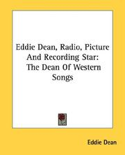 Cover of: Eddie Dean, Radio, Picture And Recording Star | Eddie Dean