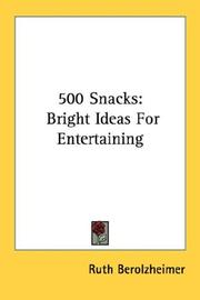 500 snacks by Ruth Berolzheimer