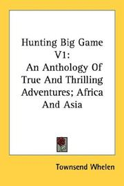 Cover of: Hunting Big Game V1