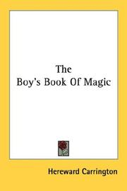 Cover of: The Boy's Book Of Magic