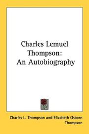 Cover of: Charles Lemuel Thompson | Charles L. Thompson