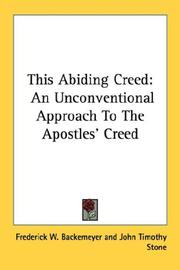 Cover of: This Abiding Creed | Frederick W. Backemeyer