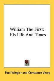 William the First by Paul Wiegler