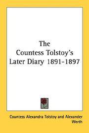 Cover of: The Countess Tolstoy