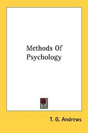 Cover of: Methods Of Psychology | T. G. Andrews