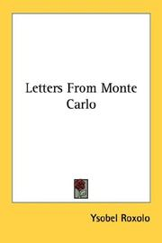 Cover of: Letters from Monte Carlo
