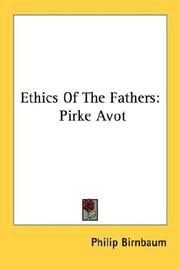 Cover of: Ethics Of The Fathers