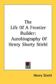 Cover of: The Life Of A Frontier Builder