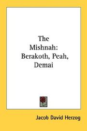 Cover of: The Mishnah