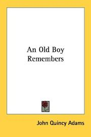 Cover of: An Old Boy Remembers
