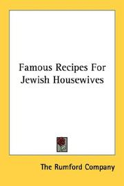 Cover of: Famous Recipes For Jewish Housewives | The Rumford Company