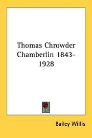 Cover of: Thomas Chrowder Chamberlin 1843-1928