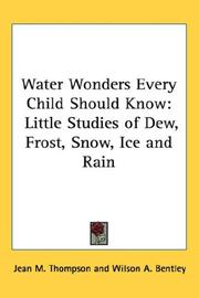Cover of: Water Wonders Every Child Should Know | Jean M. Thompson