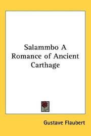 Cover of: Salammbo A Romance of Ancient Carthage