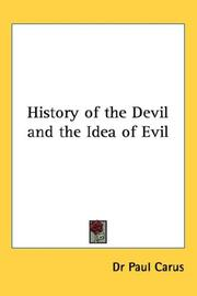 Cover of: History of the Devil and the Idea of Evil