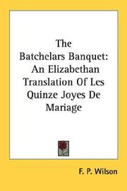 Cover of: The Batchelars Banquet
