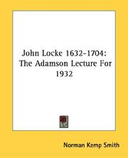 Cover of: John Locke (1632-1704)