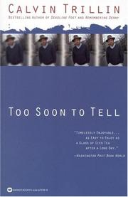 Cover of: Too soon to tell | Calvin Trillin
