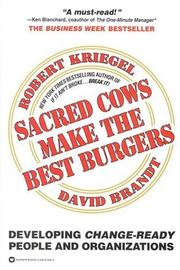 Cover of: Sacred Cows Make the Best Burgers | Robert Kriegel
