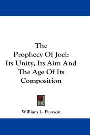 Cover of: The Prophecy Of Joel | William L. Pearson