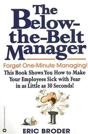 Cover of: The below-the-belt manager