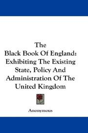 Cover of: The Black Book Of England | Anonymous