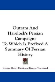 Cover of: Outram And Havelock's Persian Campaign | George Townsend