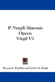 Cover of: P. Vergili Maronis Opera |