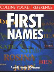 Cover of: First Names