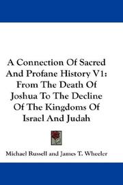Cover of: A Connection Of Sacred And Profane History V1 | Michael Russell