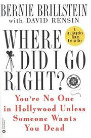 Cover of: Where did I go right?