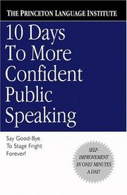 Cover of: 10 days to more confident public speaking |