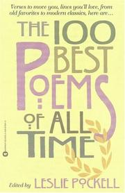Cover of: The 100 Best Poems of All Time | Leslie Pockell