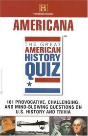 Cover of: The Great American History Quiz | The History Channel