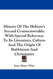 Cover of: History Of The Hebrew