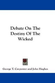 Cover of: Debate On The Destiny Of The Wicked