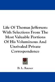 Cover of: Life Of Thomas Jefferson | B. L. Rayner