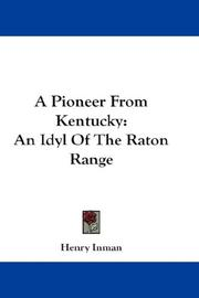 Cover of: A Pioneer From Kentucky | Henry Inman