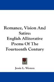 Cover of: Romance, Vision And Satire | Jessie L. Weston