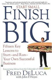 Cover of: Start Small, Finish Big | Fred DeLuca