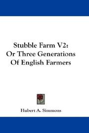 Cover of: Stubble Farm V2 | Hubert A. Simmons