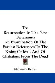 The Resurrection In The New Testament