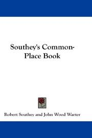 Cover of: Southey's Common-Place Book