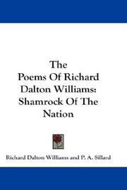 Cover of: The Poems Of Richard Dalton Williams | Richard Dalton Williams