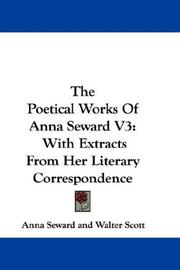Cover of: The Poetical Works Of Anna Seward V3