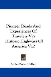 Cover of: Pioneer Roads And Experiences Of Travelers V2